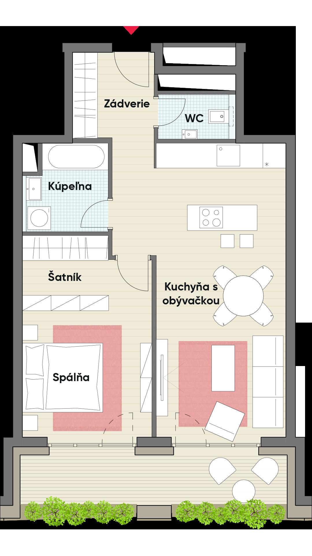Dvojizbový byt č. 6.7